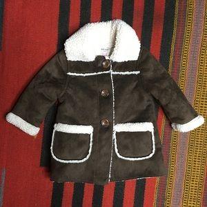Old Navy Fleece Lined Coat Sz 6-12 Months